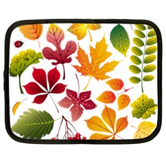 Beautiful Autumn Leaves Vector Netbook Case (xxl)