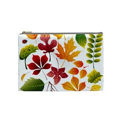 Beautiful Autumn Leaves Vector Cosmetic Bag (medium)