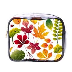 Beautiful Autumn Leaves Vector Mini Toiletries Bags