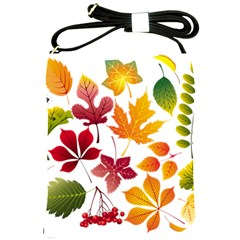 Beautiful Autumn Leaves Vector Shoulder Sling Bags