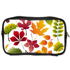 Beautiful Autumn Leaves Vector Toiletries Bags