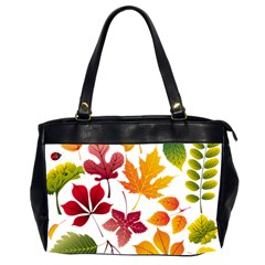 Beautiful Autumn Leaves Vector Office Handbags (2 Sides)  by Nexatart