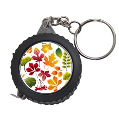 Beautiful Autumn Leaves Vector Measuring Tape
