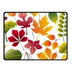 Beautiful Autumn Leaves Vector Fleece Blanket (small)