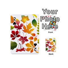 Beautiful Autumn Leaves Vector Playing Cards 54 (mini)