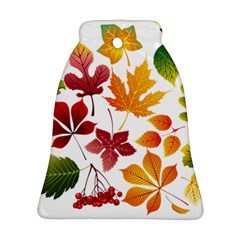 Beautiful Autumn Leaves Vector Bell Ornament (two Sides)