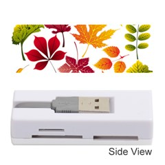 Beautiful Autumn Leaves Vector Memory Card Reader (stick)