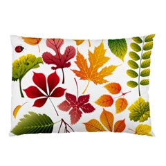 Beautiful Autumn Leaves Vector Pillow Case (two Sides)