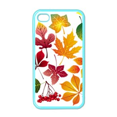 Beautiful Autumn Leaves Vector Apple Iphone 4 Case (color)