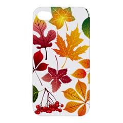 Beautiful Autumn Leaves Vector Apple Iphone 4/4s Hardshell Case