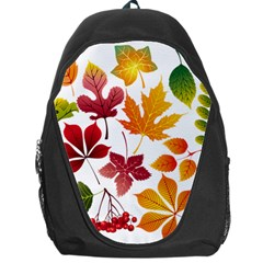 Beautiful Autumn Leaves Vector Backpack Bag