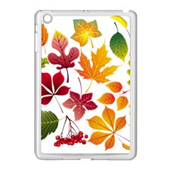 Beautiful Autumn Leaves Vector Apple Ipad Mini Case (white)