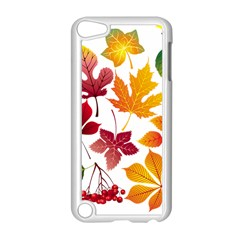 Beautiful Autumn Leaves Vector Apple Ipod Touch 5 Case (white)