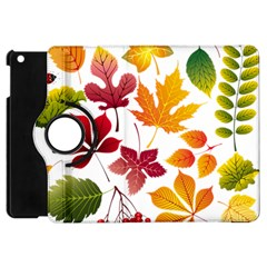 Beautiful Autumn Leaves Vector Apple Ipad Mini Flip 360 Case by Nexatart
