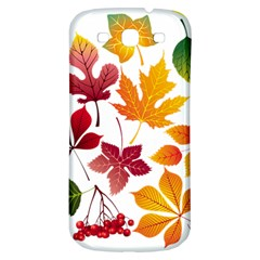 Beautiful Autumn Leaves Vector Samsung Galaxy S3 S Iii Classic Hardshell Back Case