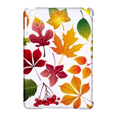 Beautiful Autumn Leaves Vector Apple Ipad Mini Hardshell Case (compatible With Smart Cover)