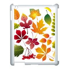 Beautiful Autumn Leaves Vector Apple Ipad 3/4 Case (white)