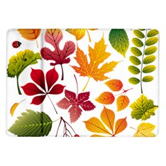 Beautiful Autumn Leaves Vector Samsung Galaxy Tab 10 1  P7500 Flip Case