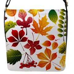 Beautiful Autumn Leaves Vector Flap Messenger Bag (s)