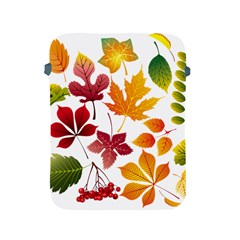 Beautiful Autumn Leaves Vector Apple Ipad 2/3/4 Protective Soft Cases