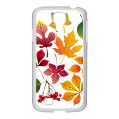 Beautiful Autumn Leaves Vector Samsung Galaxy S4 I9500/ I9505 Case (white)