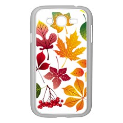 Beautiful Autumn Leaves Vector Samsung Galaxy Grand Duos I9082 Case (white)