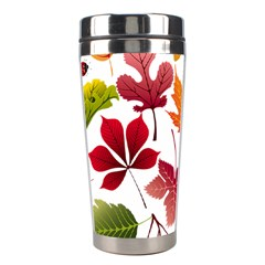 Beautiful Autumn Leaves Vector Stainless Steel Travel Tumblers