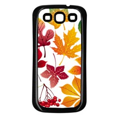 Beautiful Autumn Leaves Vector Samsung Galaxy S3 Back Case (black)