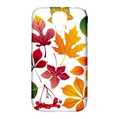 Beautiful Autumn Leaves Vector Samsung Galaxy S4 Classic Hardshell Case (pc+silicone)