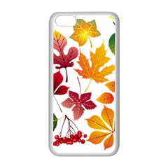 Beautiful Autumn Leaves Vector Apple Iphone 5c Seamless Case (white)