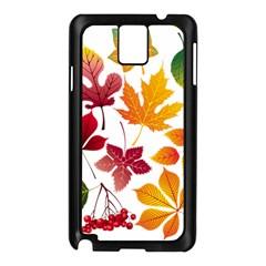 Beautiful Autumn Leaves Vector Samsung Galaxy Note 3 N9005 Case (black)