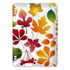 Beautiful Autumn Leaves Vector Kindle Fire Hdx Hardshell Case