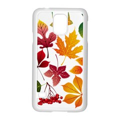 Beautiful Autumn Leaves Vector Samsung Galaxy S5 Case (white)