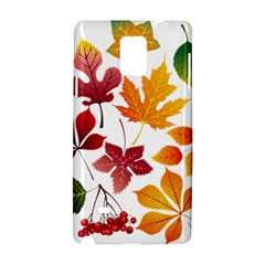 Beautiful Autumn Leaves Vector Samsung Galaxy Note 4 Hardshell Case