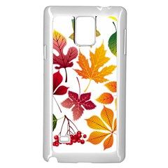 Beautiful Autumn Leaves Vector Samsung Galaxy Note 4 Case (white)