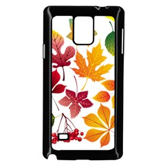 Beautiful Autumn Leaves Vector Samsung Galaxy Note 4 Case (black)