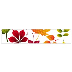 Beautiful Autumn Leaves Vector Small Flano Scarf