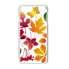 Beautiful Autumn Leaves Vector Apple Iphone 7 Plus Seamless Case (white) by Nexatart
