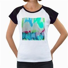 Abstract Background Women s Cap Sleeve T
