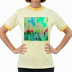 Abstract Background Women s Fitted Ringer T Shirts