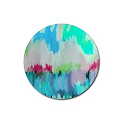 Abstract Background Rubber Coaster (round)