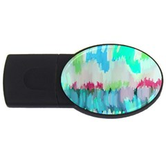 Abstract Background Usb Flash Drive Oval (2 Gb)