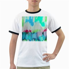 Abstract Background Ringer T Shirts