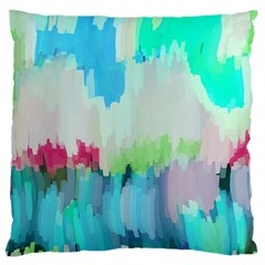 Abstract Background Large Cushion Case (one Side)