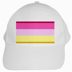Red Orange Yellow Pink Sunny Color Combo Striped Pattern Stripes White Cap