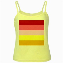 Red Orange Yellow Pink Sunny Color Combo Striped Pattern Stripes Yellow Spaghetti Tank