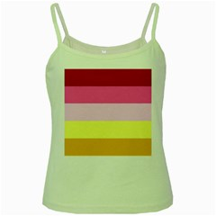 Red Orange Yellow Pink Sunny Color Combo Striped Pattern Stripes Green Spaghetti Tank