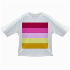 Red Orange Yellow Pink Sunny Color Combo Striped Pattern Stripes Infant/toddler T Shirts