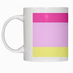 Red Orange Yellow Pink Sunny Color Combo Striped Pattern Stripes White Mugs