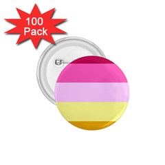 Red Orange Yellow Pink Sunny Color Combo Striped Pattern Stripes 1 75  Buttons (100 Pack)
